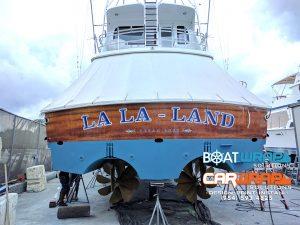 Hatteras Custom Transom Wrap Dania Beach Florida